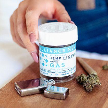 Gas CBD flower in jar